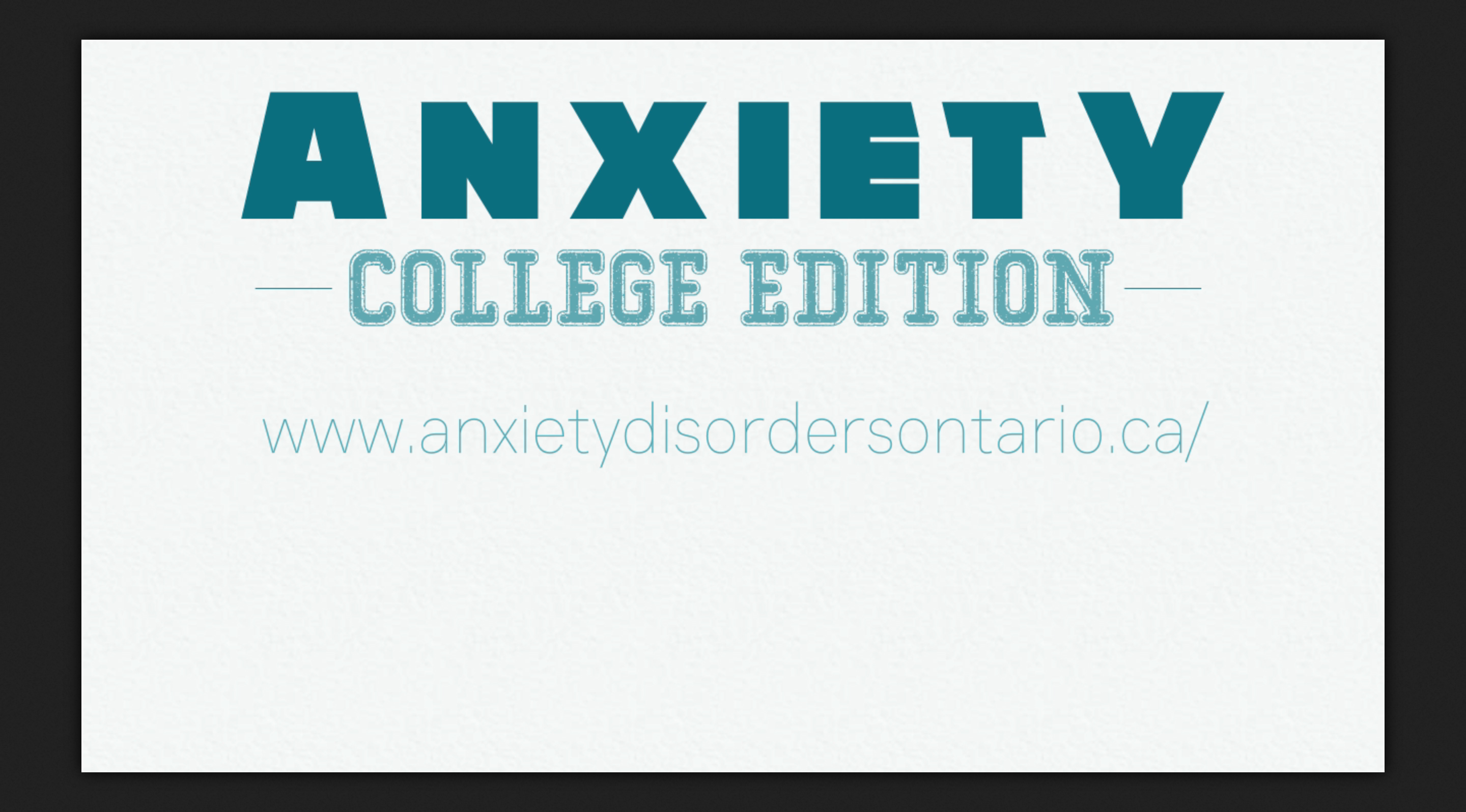 anxiety motion infographic screen shot